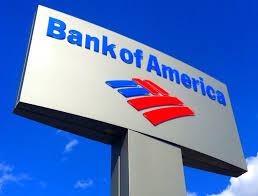 Logo der Bank of Amerika auf Schild
