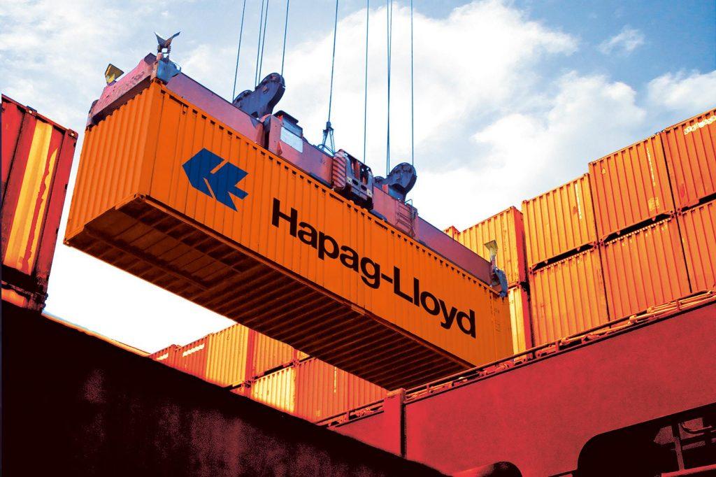 Bild eines Containerumschlag bei der Hapag-Llloyd