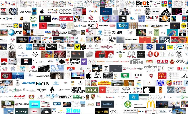 Sammlung verschiedener Marken