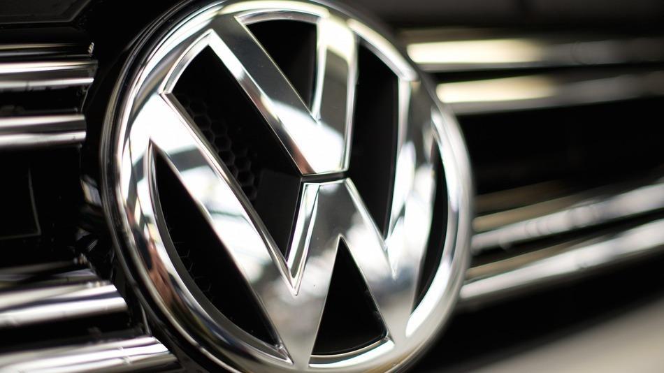 Logo an einem VW